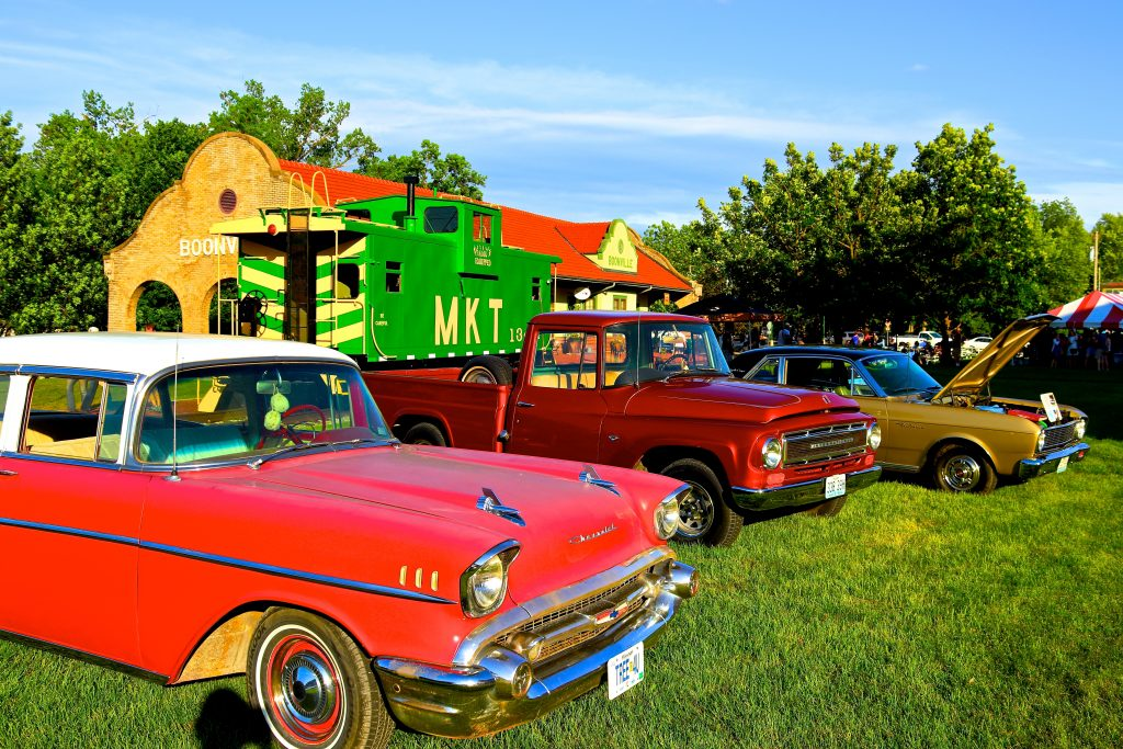 Classic Cars at the Katy Depot